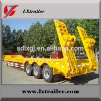 Quality Two Line Four Axle Low-bed Semi Trailer for sale