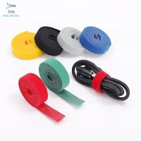 Quality Anti Slip Nylon Reusable Cable Ties Injection Molded Back To Back Hook And Loop Tape Roll for sale