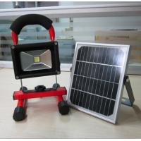 Quality 10W portable recharged LED Flood Light with solar panel for sale