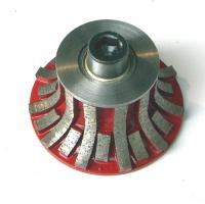 Quality Segmented Portable Carving Diamond Profile Wheel For Stone Slab Edge Profiling for sale