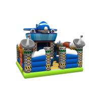 China Spaceship Themed Inflatable Jump House / Airplane Bouncer With Slide For Children on sale
