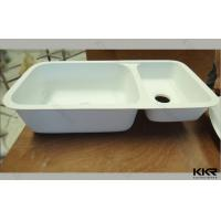 Best Pure White Solid Surface Kitchen Sinks With Double Bowl Customized wholesale