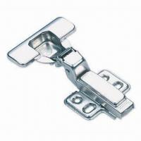 Quality Concealed Hinge with Cover and Four-holes Baseplates, Made of Cold-rolled Steel Material for sale
