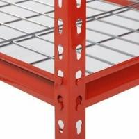 Quality Red Q235 Steel Wide Span Shelving 400lbs For Warehouse Storage for sale