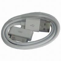 Quality USB Male Data and Charger Cable for iPod, Comes in White Color for sale