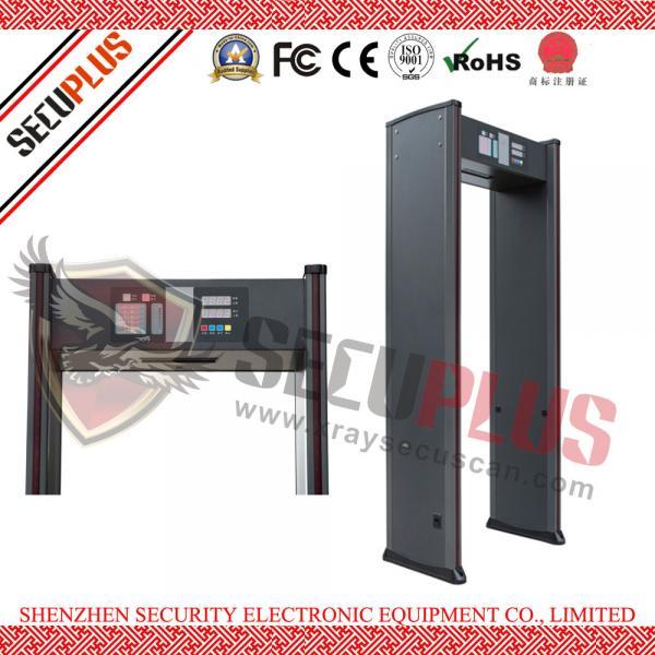 Buy SPW-IIIC Door Frame Metal Detector , 18 Zones Walk In Metal Detector Alarm Counter at wholesale prices