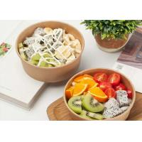 China Disposable kraft paper bowl takeaway fast food container strong disposable bowls on sale