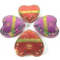 Quality Metal Heart Tin Boxes for sale