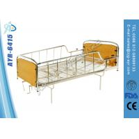 Best Manual Hospital Homecare Bed With Two Cranks , Wooden Head / Foot Board wholesale
