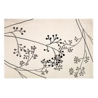 China Modern Contemporary White Wool Area Rug With Floral Pattern, Wool Dining Room Rugs on sale