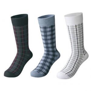 Quality custom socks ,design socks, logo socks,Mens Grid Pattern Dress Socks for sale
