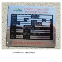 Best Polish stainless steel business plaque with black filled, polished steel plates, wholesale