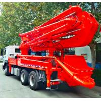 Quality 6x4 HOWO Cement Boom Truck , 37 / 39 Meter Boom Height Cement Pump Truck for sale