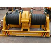 China Fast speed double drum electrical wire rope winch shipyard apply on sale