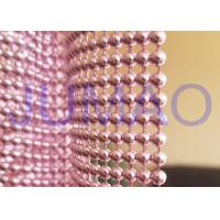 Quality Pink Steel Ball Curtain, Architectural Decorative Ball Chain Beaded Curtain for sale