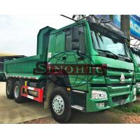 Quality U Shape 12 - 20 Cubic Tipper Truck , 3 Axle 20 - 30 Ton Dump Truck LHD Steering for sale