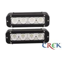 Best Flood beam 8 Inch 40W Single Row LED Light Bar For Off - road , bulldozer , crane wholesale