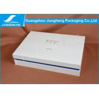 White Flat Pack Cardboard Gift Boxes Rigid Large For Clothing Packaging