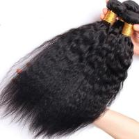 Buy Brazilian / Peruvian Kinky Straight Virgin Human Hair Bundles With Natural Color at wholesale prices