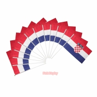 Quality Silkscreen 100 Polyester Hand Waving Flag For Sports for sale