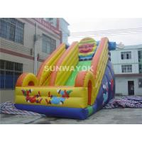 China Huge Commercial kids Inflatable Slide With Fire Proof Plato TM on sale