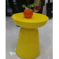 Quality Yellow Arcylic Round Metal Coffee Table Small Indoor Customizable SGS for sale