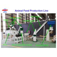 Quality 0.5 - 1t/H Feed Pellet Making Machine For Animal Feed Production Process for sale