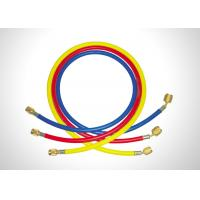 China Red Yellow Blue R134a Charging Hose , Ac Refrigerant Hose With 1/4 SAE Connection on sale