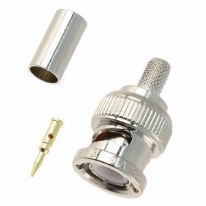 Best BNC Male crimp type connector for RG58/U, RG59/U, RG6/U and RG174/U Coaxial Cable wholesale
