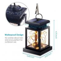 Quality 7LM 1800K Hanging Solar Camping Lights / Fairy String Lights Outdoor Dusk To Dawn for sale