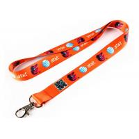 Quality Orange Silicone Key Chain With Safety Buckle For Badge Holder Lanyard for sale