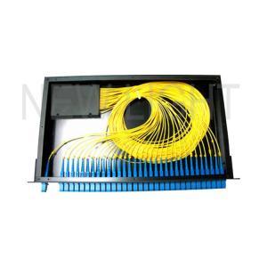 Quality 1*8 1*16 1*32 19 Inch Fiber Optic Splitter Types / Rack Mount Fiber Splitter Box for sale