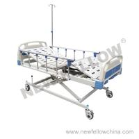 Quality X - frame Manual Medical Hospital Beds , 3 Functions , Aluminum Alloy Guardrail , 5 Inch Silent Caster With Brake for sale