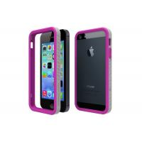 Quality Soft Plastic Iphone 5 / 5s Protective Cases Purple Grey Color Anti-Abrasion for sale