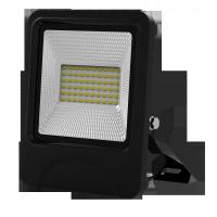 Quality outdoor lighting lamp flood light led 30W 60pcs SD5730 IP66 isolated IC driver black fixture new slim integrated design for sale
