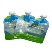 Quality Smell Proof Spout Pouch Packaging , Custom Plastic Baby Food Pouches Jam Shaped for sale