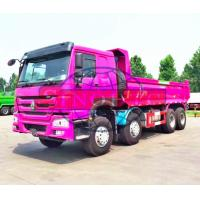 Quality Hydraulic 50 - 60 Ton Dump Truck, HOWO 8x4 Strengthened Quad Axle Dump Truck for sale