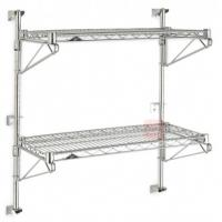 Quality Commercial Wall Mounted Home Wire Shelving High Capacity 200lbs Per Shelf for sale