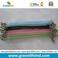 Quality Hot Selling Transparent Slim Long Coiled Cable W/Metal Hooks for sale