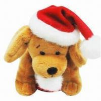 Quality Stuffed Plush Toy/Christmas Dog with Hat and Sock for sale