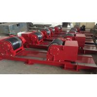 China Red Bolt Adjustable Pipe Stands , Heavy Duty Welding Roller Beds With PU Wheel on sale