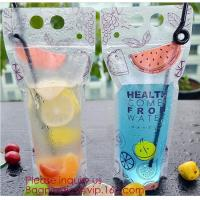 China Biodegradable Liquid Packaging Leakage Proof Pouch Custom Custom 1 Gallon Water Bag Foldable Sports Drinking Water Bag on sale
