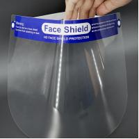 Quality PET Clear Plastic Protective Face Shield Anti Splash for Prevent Infection for sale