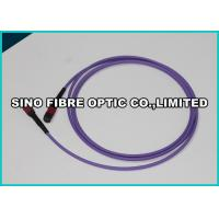 Quality 72F Violet MPO - MPO Fiber Optic Cable OM4 MT Ferrule 100Gig Data Transfer for sale