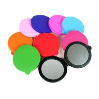 Quality Round Compact Silicone Coin Purse Colorful With Cosmetic Mirror for sale