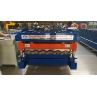 Quality 4 Kw Hydraulic Cutter Glazed Tile Roll Forming Machine 1220mm Coil Width for sale