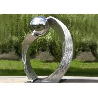 Quality Silver Polished Contemporary Garden Sculpture Stainless Steel For City Decoration for sale