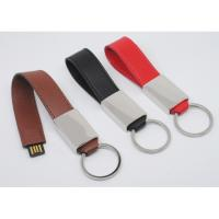 Leather keychain usb with free logo printing from Chinese factory