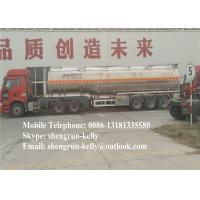 46 cbm 3 Axles flammable liquids fuel tanker trailer cement tanker truck
