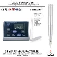 Quality CTM046 LED 3D screen digital rotary permanent makeup eyebrow tattoo electronic pen for sale